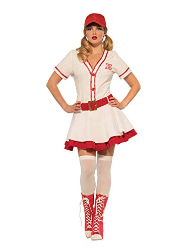 Pizazz! Women's Baseball Sweetie, White/red -