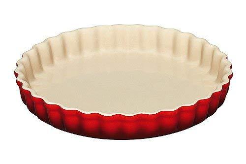 LE CREUSET 91015928060100 Molde para Tartas, Ø 28 cm, Cerámica de gres, Rojo(Cereza)
