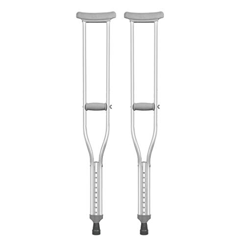 QNDYDB Underarm Crutches 2 Retractable Crutches 9-Speed Adjustable Walking Stick
