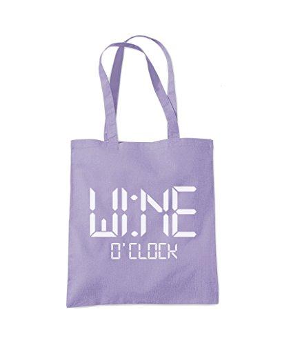 Wine Bag Tote O'Clock Purple Shopper Fashion Lavender P1rPIqx