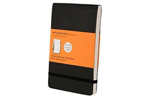 Moleskine Reporter Notebook, Pocket, Ruled, Black, Soft Cover (3.5 x 5.5) (Reporter (Moleskine Ruled Reporter Notebook)
