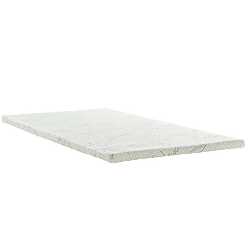 Modern Contemporary Urban Design Bedroom Twin Size 2inch Memory Foam Mattress, White, Fabric by America Luxury - Bedroom
