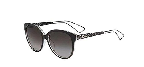 New Christian Dior DIORAMA 2 TGT/HA Dark Grey Crystal/grey Brown - Diorama Dior Sunglasses 2