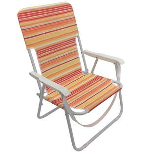 amazon com essential garden fabric folding beach chair orange