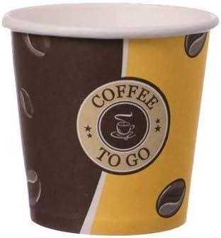 8oz Pappbecher Einwegbecher EINWEG Coffee to go 0,2 L Top Becher mit Deckel in weiss Gastro-Bedarf-Gutheil 100 Kaffeebecher Pappe 200ml