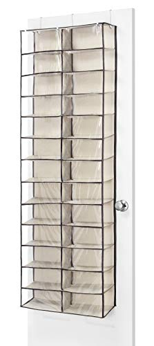 Whitmor Over The Door Shoe Shelves - 26 Sections - Espresso