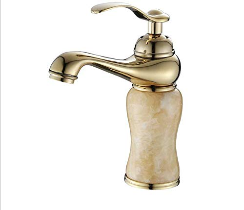 European bathroom antique basin faucet copper hot Topaz faucet gold lamp faucet