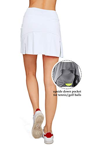 huge selection of de0e0 f5a5b Cityoung Women s Casual Pleated Tennis Golf Skirt with Underneath Shorts Running  Skorts wh xs by Cityoung