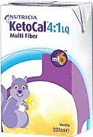 (KetoCal 4:1 Vanilla Flavour Ready-to-feed Liquid 8 oz. [Case of 27] by Nutricia North America )