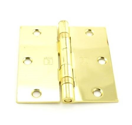 - Hager BB1741 3.5x3.5in US3 - Bright Brass - 34274 Hinge-Full Mortise-Residential Weight-Ball Bearing-Steel Base - Standard Removable Pin