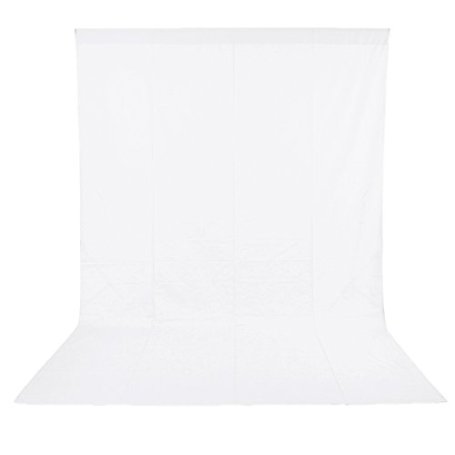 Neewer 6 x 9FT/1.8 x 2.8M PRO Photo Studio 100% Pure Muslin Collapsible Backdrop Background for Photography,Video and Television (Background Only) - White -
