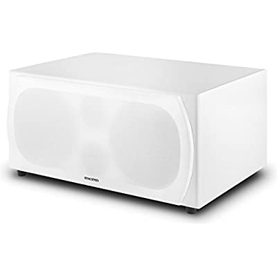 AUNA Linie 501 Subwoofer  Active Subwoofer  250W RMS  2x20     Woofer  Integrated Amplifier  Automatic Ignition  Bassreflex  Wood Finish  Removable Cover  White