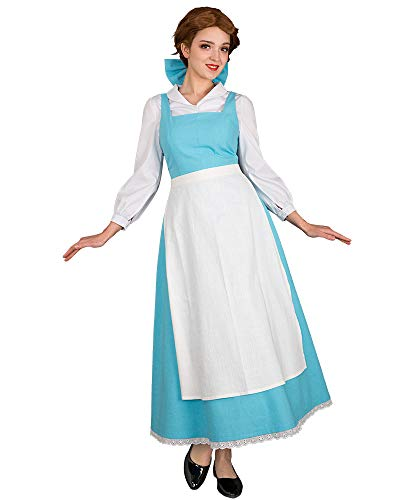 Cosplay.fm Women's Belle Cosplay Costume Blue Maid Dress