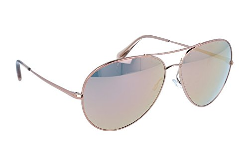Oliver Peoples Unisex Sayer Rose Gold/Pink Mirror Sunglasses