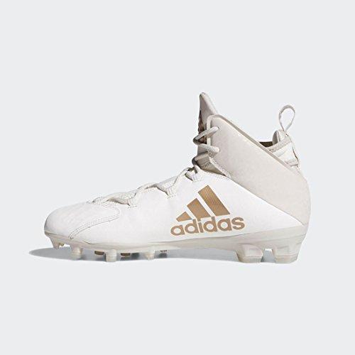 adidas Freak Lax Mid Cleat Unisex Lacrosse 5.5 White-Copper Metallic