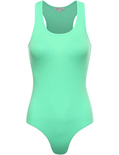 Fifth Parallel Threads FPT Womens Basic Racerback Tank Top Bodysuit Mint Large