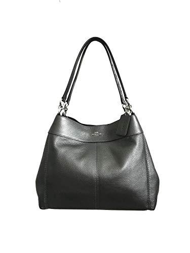- Coach Lexy Pebble Leather Shoulder Bag (Gunmetal)
