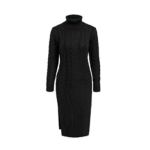Suéter Tortuga Shuchangle Invierno Suelto Suétercuello Vestido De Única Mujer Streetwear Dividir Talla Tricot Cremoso Negro Blanco Largo Punto Mujer wqqSg4Xx
