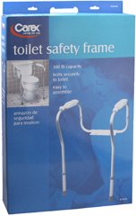 Carex Toilet Safety Frame, Pack of 4