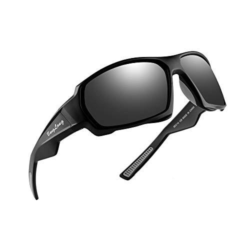BangLong Polarized Sports Sunglasses, Cycling Sunglasses for Men Women HD Glasses Driving Running Bike Fishing Golf Tr90 (Driving Sunglasses)