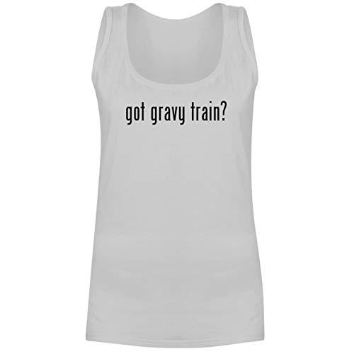 - The Town Butler got Gravy Train? - A Soft & Comfortable Women's Tank Top, White, XX-Large