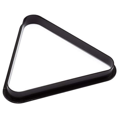(GSE Games & Sports Expert Black Plastic Billiard Pool Ball 8 Ball Triangle & 9 Ball Diamond Racks (8 Ball Triangle))