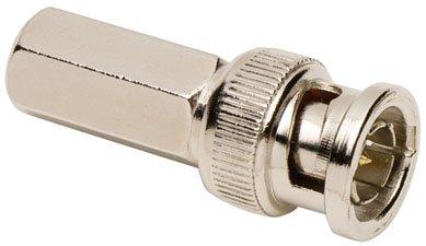 75 Ohm Bnc Twist - Allen Tel GBNC-109C-75 75-Ohm BNC Male Coaxial Twist-On Connector for RG-6 PVC, 2-Pack