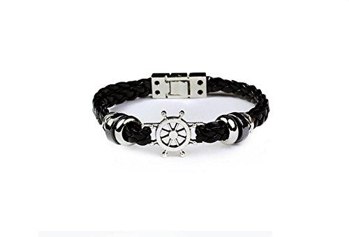 Most Beloved Men's Leather Bracelet Bangle Cord Nautical