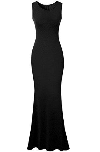 Babyonlinedress Vestido Largo Elegante de Estilo Ajustado negro