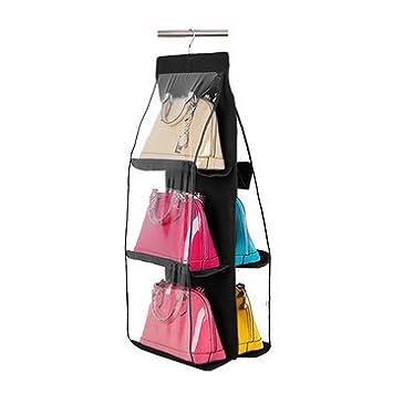 Bag Organizer   Handbag Organizer   Purse Storage Bag   6 Pocket Hanging Handbag  Purse Bag
