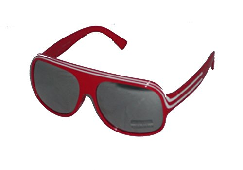 SG-P8403MIR/27 Red/white frame Mirrored Michael J - Jackson Sunglasses Michael