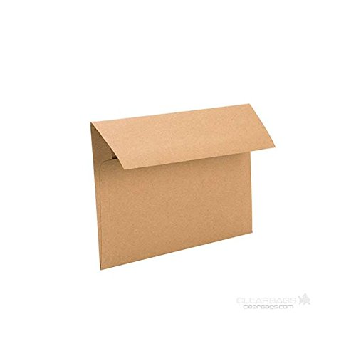 Brown Bag Envelopes by ClearBags | Rustic Theme for Invitations/Announcements for Wedding, Showers, Graduation | Heavy 70 Pound Paper | 50 Envelopes (A7 | 7 1/4