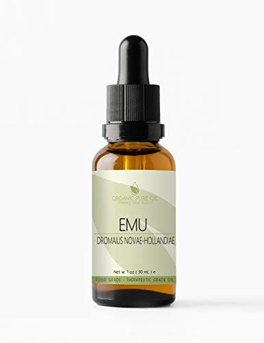 Australian Emu Oil 7 Times Refined 1 oz - 100% Pure Natural Organic Premium Pharmaceutical Top Grade A for Hair Face Body Pain Relief Joint Pain Muscle Hair Growth Nail Cuticles by Organic Pure Oil