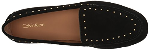 Calvin Klein Womens Lolly Slip-On Loafer Black Suede K4gZD