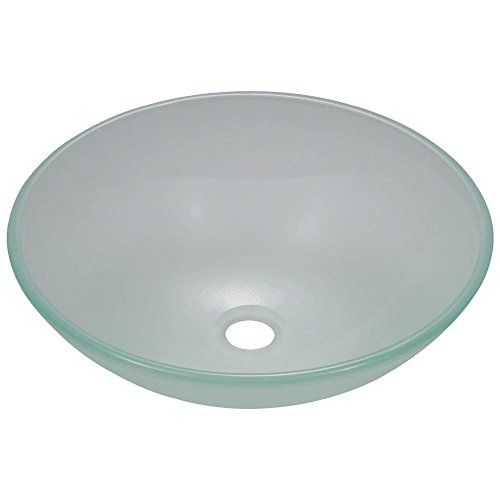 602 Frosted Glass Vessel Sink by MR Direct