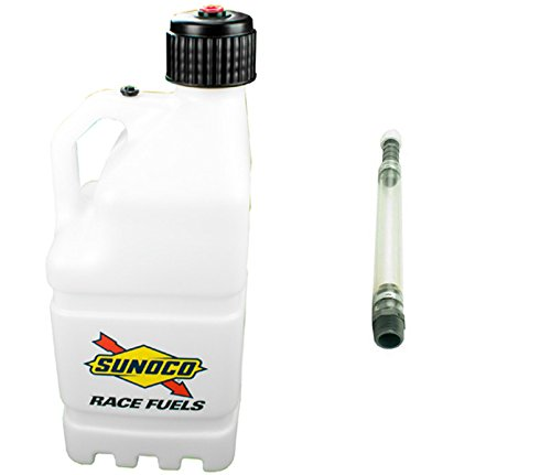 UPC 010315615646, Sunoco Race Fuels 5 Gallon Racing Utility Jug with Deluxe Filler Hose Kit - Clear - Made in the USA