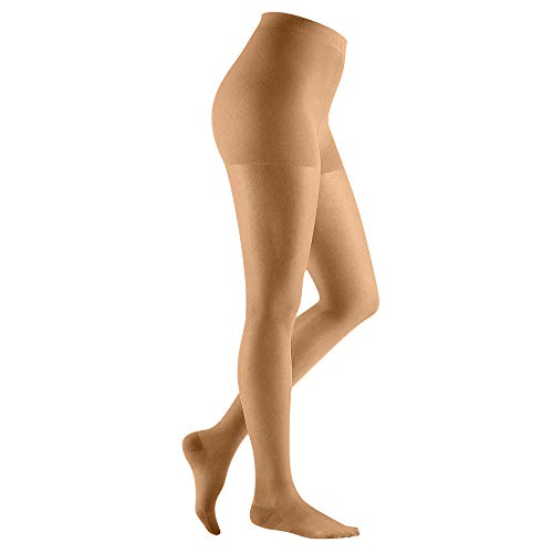 POPGER Compression Pantyhose 20-30mmhg Opaque Closed Toe Medical Graduated Compression Support Pantyhose Helps Relieve Symptoms of Mild Varicose Veins Beige