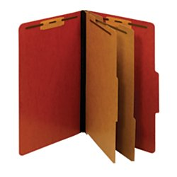 Moisture Resistant Classification Folders (Pendaflex(R) Pressboard Moisture-Resistant Classification Folders, 2 1/2in. Expansion, Legal Size, Red, Box Of 10)