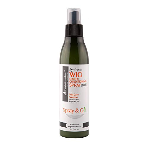Awesome Synthetic Wig Leave-in Conditioning Spray [pH6] - Top Professional Wig Care Solution, Best Wig Detangle Spray, Moisturizes & Replenishes Synthetic Wigs, Easy Combing, Coconut Oil, 7 Ounce