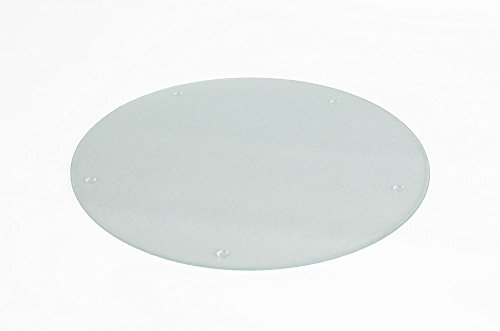 Chop-Chop Round Glass Cutting Board Or Counter Saver, 16 Inches - Glass Round Cutting Board