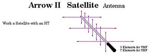 Arrow II Dual-Band Handheld Yagi, 3 Element Beam on 2 Meter, 7 Element Beam on 70 cm 146/437-10BP (Element Arrow)