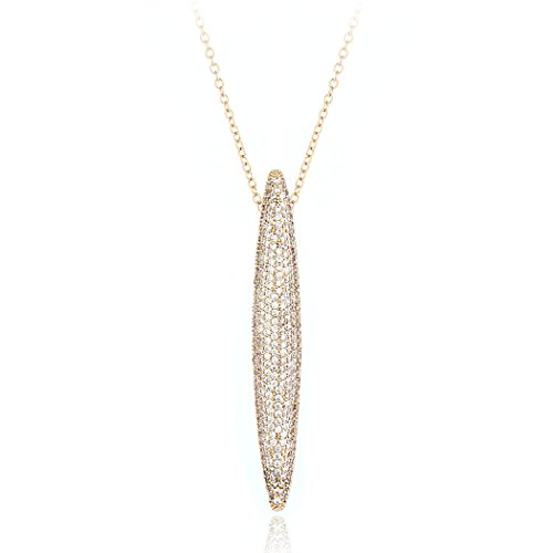 HONGYE Luxurious Pave Setting AAA Zircon and Crystal Long Chain and Bullet Shaped Pendant - Bullet Shaped Pendant