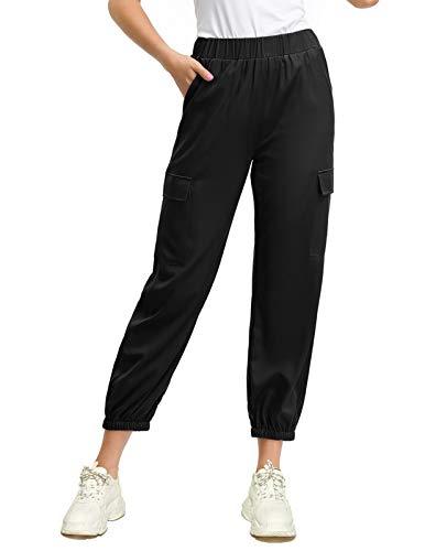 - Women's Casual Baggy Hip Hop Pants Stylish Sport Harem Cargo Pants S Black