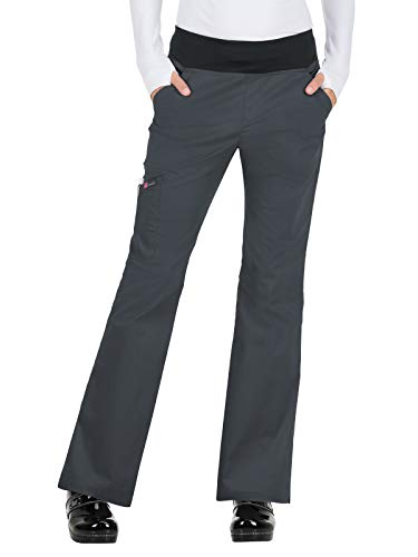 (KOI Stretch 730 Women's Liza Scrub Pant Charcoal M)