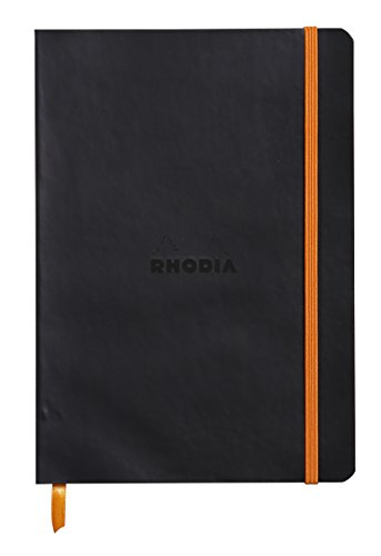 Rhodiarama Dot 5.8 x 8.3 inch Black Notebook