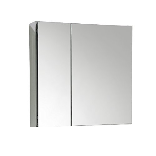 Eviva Evmr750-26Gl Lazy 30'' Mirror Medicine Cabinet With No Light Combination, Glass by Eviva