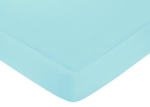 Turquoise Funky Zebra Collection Fitted Crib Sheet by Sweet Jojo Designs -Turquoise