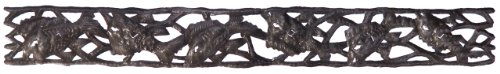 - Le Primitif Galleries Haitian Recycled Steel Oil Drum Outdoor Decor, Horizontal Fish Strip, 30 by 4-Inch