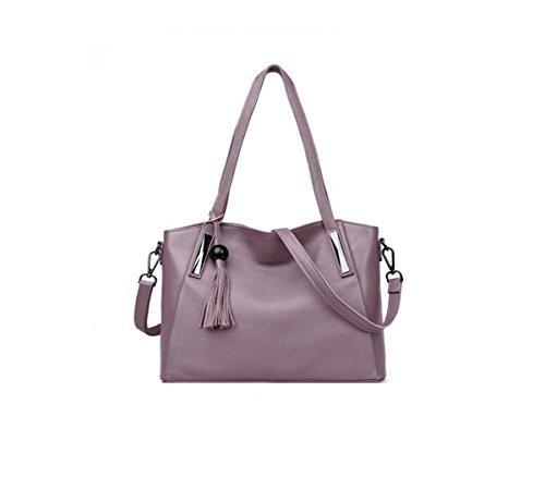 VTootkl LXopr@,Cuero,Bolso de hombro,Bolso de Crossbody,Mochila,Señora,13.3 * 5.5 * 10.6(inch) Purple