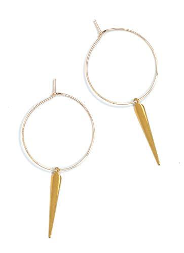 Geometric Spike (Featherweight Spike Hoop Earrings – Gold)